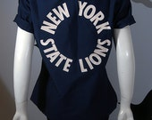 Vintage New York State Lions Short Sleeve Button Down Shirt