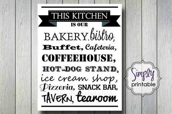 Kitchen Wall Print 11x14 DIGITAL
