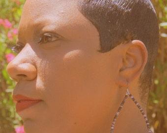 Efi Tribal Tortoise Shell Hoop Earrings-Tribal jewelry-African Jewelry-Ethnic Jewelry-Boho Jewelry-Fashion Jewelry
