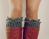 Crochet Pattern Boot Cuff PDF - Winter Accessory crochet - Lucy Leg Warmers, boot socks, boot topper, boot cuff - Instant DOWNLOAD