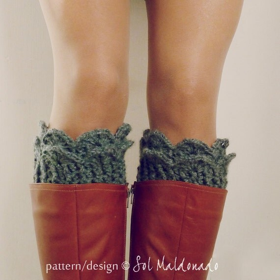 Crochet Pattern Boot Cuff PDF - Lucy Leg Warmers, boot socks, boot topper, boot cuff crochet pattern - Instant DOWNLOAD