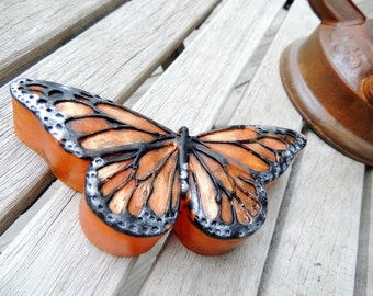 MONARCH BUTTERFLY SOAP, Ginger the Monarch Butterfly Soap, Custom Scented, Handmade Vegetable Based