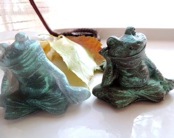 ZEN FROG SOAP, Time to Get Your Zen On~ Frog Soap Set, Moisturizing Vegetable Based Scented in Patchouli Harmony