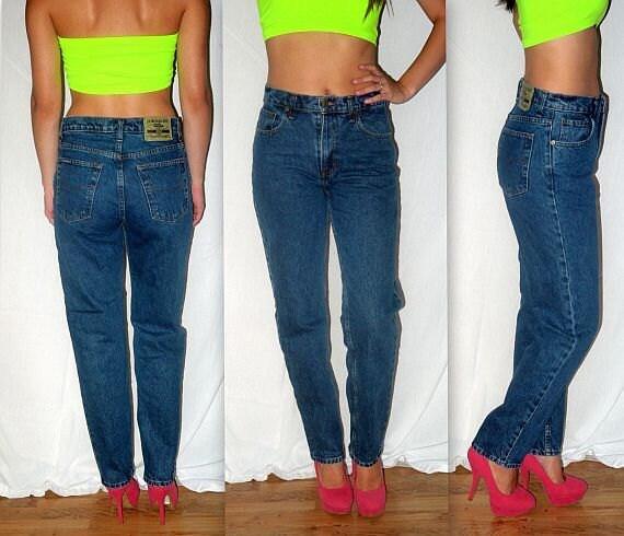 Euryth Mick Vintage 80s 90s High Waist Waisted Jeans 1980s
