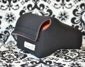 DSLR Neoprene Camera Case - Black and orange
