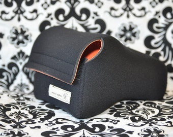 DSLR Neoprene Camera Case - Black and orange