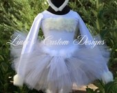 Bunny Tutu Costume, White and Grey, Toddler Girls, Children, Teens and Adults, Halloween Costume, Bunny Tutu