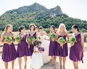 Bridesmaid Dress Purple - Multiway Style
