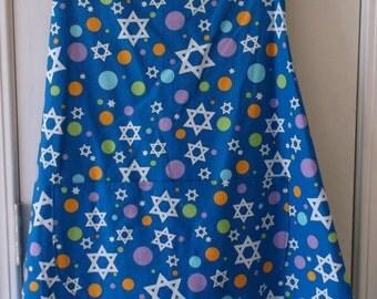 Bib Apron with Stars & Dots Size X-large #209
