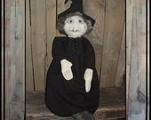 Primitive folk art ghost witch soft sculpture doll HAGUILD OFG HAFAIR