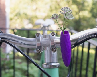 Twisted Handlebar Vase for your Bike, in Violet