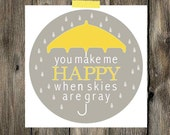 Printable - You Make Me Happy - INSTANT DOWNLOAD {8x8}