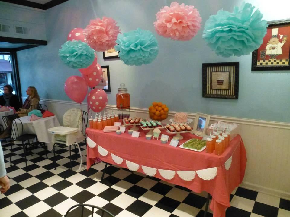 Pink And Aqua Pom Set Candy Buffet Cake Table Poms