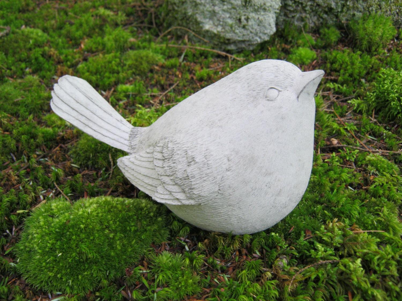 Bird statue concrete garden statue cement by westwindhomegarden - Cement cloth garden ornaments ...