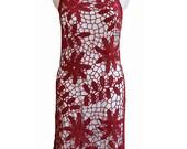 Sexy flowers dress (Custom) handmade lace crocheted