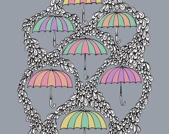 Umbrellas print