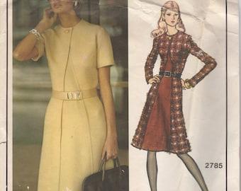 Bust 40-1970's Misses' Dress Vogue Paris Original by Molyneux 2785 Size 18 Hip 42