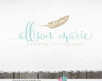 Photography Logo Feather Logo Gold logo Logo with Feather Photography Logos and Watermarks blog headers Blogger Logo blog logo sewing logo