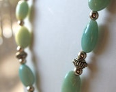 RESERVED Nathalie: Amazonite Necklace & Earrings