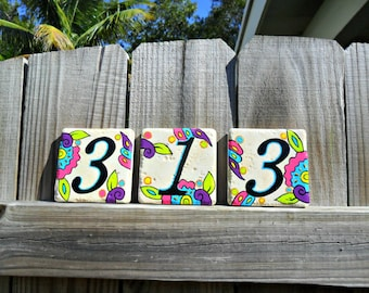 house numbers address tiles KEY WEST