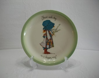 Holly Hobbie Collectors Edition Vintage Decorative Collectors Plate, Childrens Decor, Holly Hobbie Plate