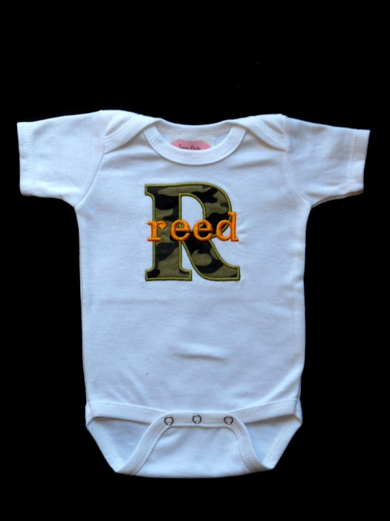 Monogrammed baby boy clothes camo baby boy personalized baby