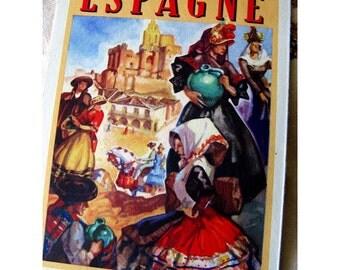 Vintage 1940s Spanish Tourism Brochure Josep Morell Macías Paintings French Language European Travel Ephemera