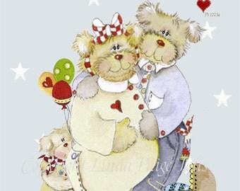 Christian Art Print by Linda Paige Tolis Bible Verse Kids Wall Art Baby Nursery Art