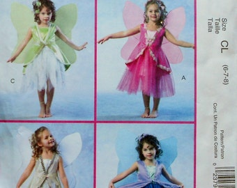 McCall's Costumes Uncut Sewing Pattern FAIRIES FAIRY Child Halloween Costume