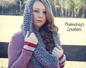 Crochet Cowl | Pink and Grey Cowl