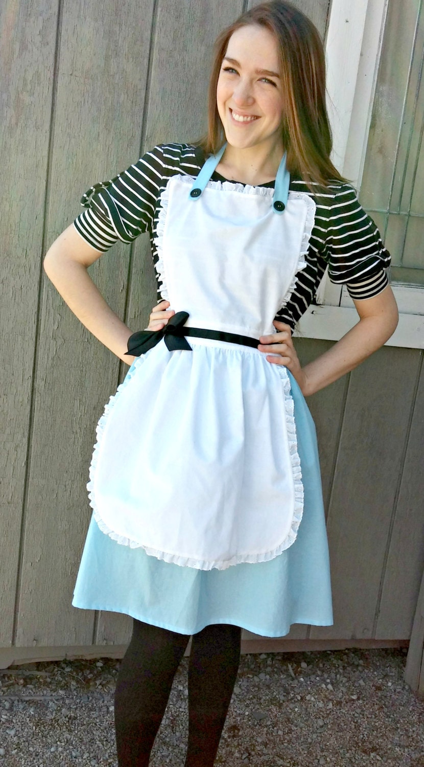 White apron like alice in wonderland