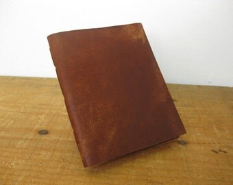 Leather Notebook /Pocket Size Leather Journal-  Hand Stitched, the Pascale