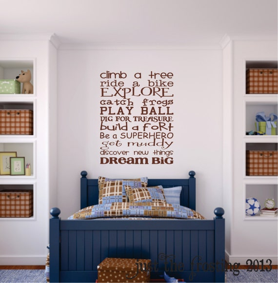 boys playroom wall decal childrens playroom wall art. Black Bedroom Furniture Sets. Home Design Ideas