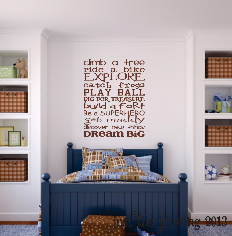 Playroom Wall Decor: Boys Playroom Wall Decal Childrens Playroom Wall Art