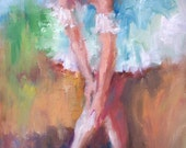 Original Oil of Ballerina 16x20 stretched canvas by Alberto of PaintedMoments