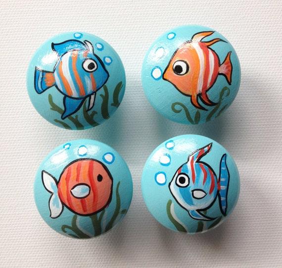 Items similar to fish drawer pulls dresser knobs for Fish drawer pulls