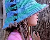 CROCHET PATTERN - Fashionista - crochet sun hat pattern, summer hat pattern, beach hat (Toddler, Child, Adult sizes) - Instant PDF Download