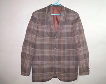 Vintage 1960s McGregor  Automatek Sportcoat //  Mad Men // Thin Lapels // Perfect Lightweight Summer