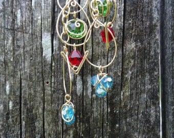 Triple Loop L.O.Z.® Inspired Earrings with Spiritual Stones