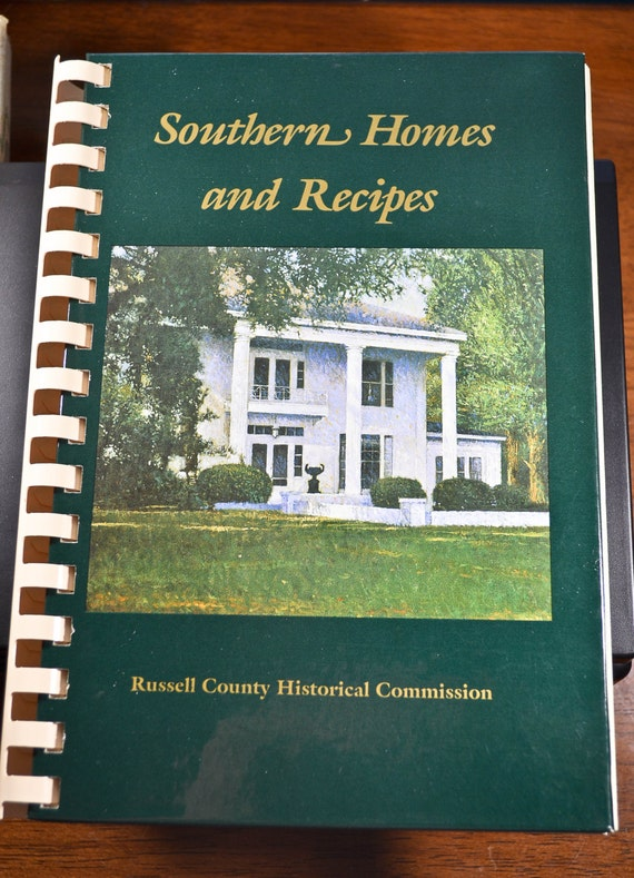 Vintage Cookbook Southern Homes And Recipes Russell County