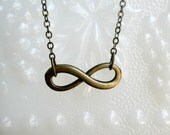 Infinity necklace- Bronze infinity necklace- Eternity -Graduation gift- Bridesmaids gift-Anniversary gift- Love necklace- Trendy