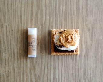 Peanut Butter S'more Lip Balm - Shea Butter, Beeswax, Cocoa Butter