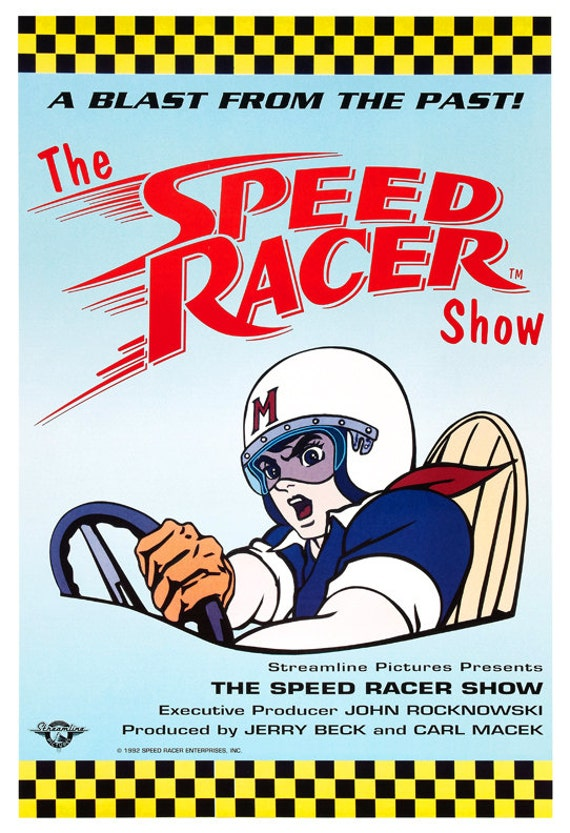 Speed Racer Cartoon Poster Print 13x19 or 24x36 The