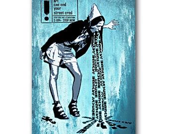 SICK - Original Art By Sku Style - Signed Limited Canvas Art Print - Street Art - Graffiti