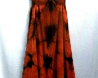 Terracotta Triangles Rayon Dress