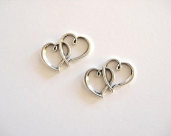 2 Heart Charms  for your Creations