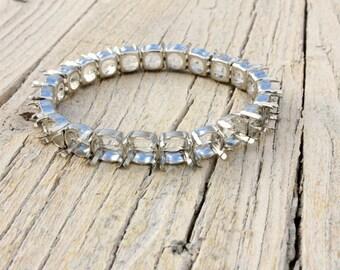 DIY Blank SILVER Bracelet with ss39 8mm Platinum Settings Sew on Swarovski Crystal chatons Empty Stretch setting swarovski empty cup chain