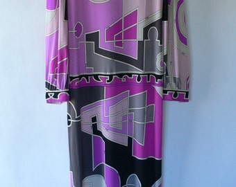 Vintage Emilio Pucci silk long dress size 14 Made in Italy from Diz Has Neat Stuff