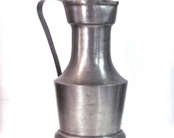 Extra Large Vintage Pewter Pitcher - Flagon from Germany
