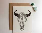 Botanical Buffalo, single card, A6